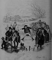 Hablot Knight Browne - The Pickwick Papers, Pickwick at the slide.jpg
