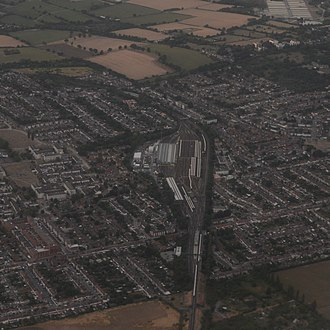 Hainault depot - Hainault depot from the air, looking towards the north. 2018.