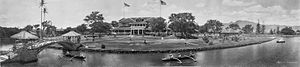 Haleiwa, Hawaii - Panoramic image of Haleiwa Hotel in 1902, by Melvin Vaniman