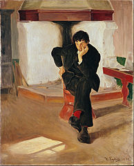 The Dreamer. Portrait of the Painter Torleiv Stadskleiv.