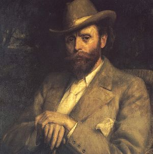 Hall Caine - From a portrait by R E Morrison