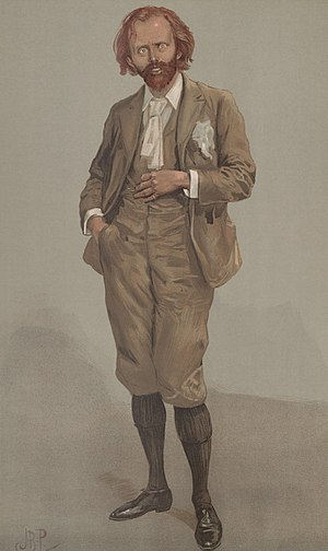 Bernard Partridge - Caricature of Hall Caine signed JBP in Vanity Fair, 1896.