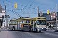 Hamilton Flyer E700A trolleybus 761 at Wilson and Hughson in 1987.jpg