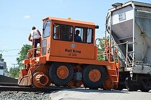Stewart & Stevenson - A Rail King rail car mover