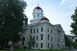 National Register of Historic Places listings in Hancock County, Illinois - Image: Hancock County Courthouse, Carthage