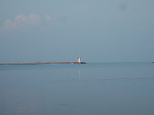 Harbor Beach, Michigan - Harbor Beach Light from Bathing Beach Park