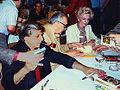 Harlan Ellison, A. E. van Vogt and Lydia van Vogt.jpg