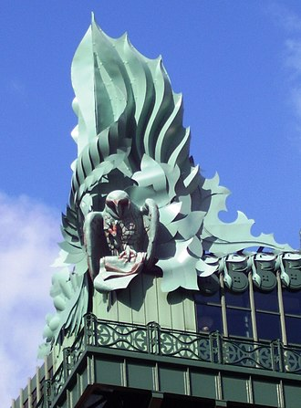 Harold Washington Library - Owl on the southwest corner of the building