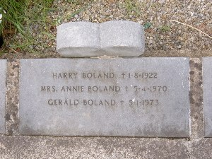 Gerald Boland - Boland's grave in the Republican Plot in Glasnevin Cemetery in Dublin.