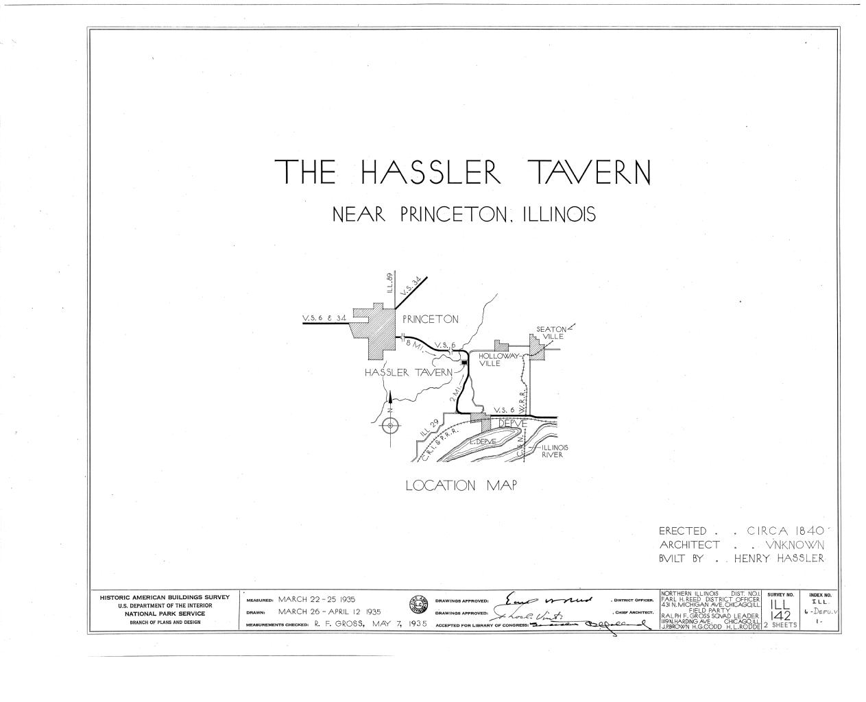 Illinois bureau county princeton - File Hassler Tavern U S Route 6 Depue Bureau County Il Habs Ill 6 Depu V 1 Sheet 0 Of 2 Png