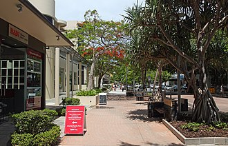 Noosa Heads, Queensland - Hastings Street (a boutique shopping street), Noosa Heads QLD