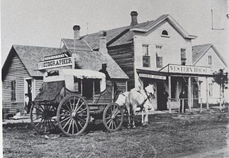 Frank Jay Haynes - First Haynes Studio, Moorhead, MN, December 1876