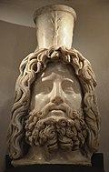 Head of Serapis, 2nd - early 3rd century AD, Londinium, Roman London, Museum of London (6777057879).jpg