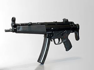 Heckler & Koch MP5 - MP5A3 with a retractable stock