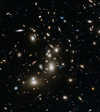Gravitational lens - Abell 2744 galaxy cluster - Hubble Frontier Fields view (7 January 2014).