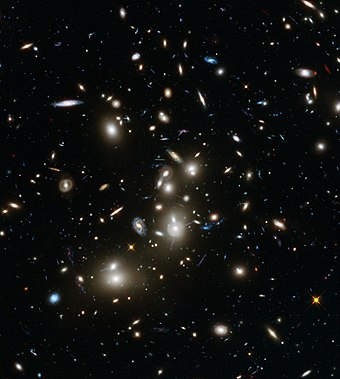 Abell 2744 galaxy cluster - Hubble Frontier Fields view. Heic1401a-Abell2744-20140107.jpg