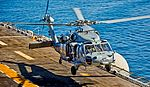 """Helicopter Sea Combat Squadron 23 (HSC-23) """"Wildcards"""" MH-60S Knighthawk 168580 Capt. B. G. Reynolds - Deputy Commodore (29668381782).jpg"""