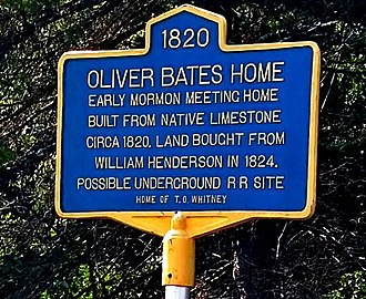 National Register of Historic Places listings in Jefferson County, New York - Image: Henderson NY Oliver Bates