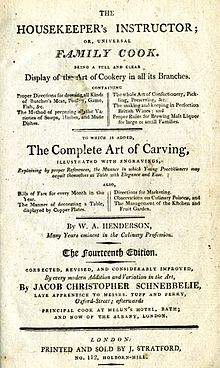 Henderson Housekeeper's Instructor Title Page 14th edition 1807.jpg