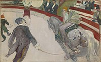 Henri de Toulouse-Lautrec - Equestrienne (At the Cirque Fernando) - 1925.523 - Art Institute of Chicago.jpg