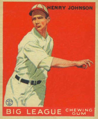 Hank Johnson (baseball) - Image: Henry Johnson Goudeycard