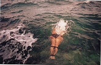Georgian swimming - Henry Kuprashvili swims Georgian style.