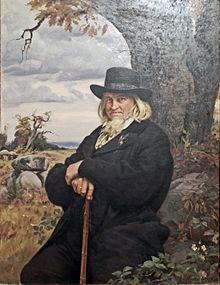 Bildnis des Dichters Hoffmann von Fallersleben vom Maler Ernst Henseler (Quelle: Wikimedia)
