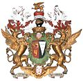 HeraldicAchievement JohnGranville 1stEarlOfBath KilkhamptonChurch.JPG