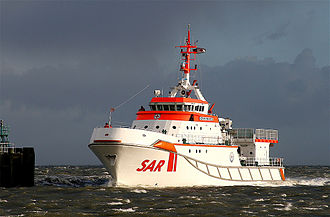 Lifeboat (rescue) - German lifeboat SK Hermann Marwede of the German Maritime Search and Rescue Service (DGzRS)