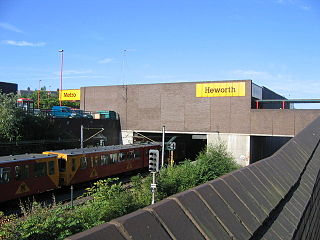 Tyne and Wear Metro and railway station
