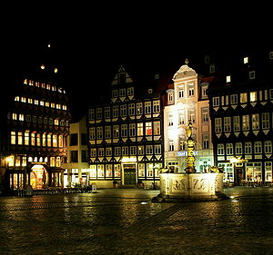 The historic market place (Markt) was once con...