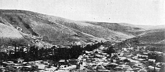 First Battle of Amman - Amman. Hill 3039 in the background