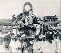 Hindu Idol God Of Fortune Ganesh Parade Through Bombay in 1946.jpg