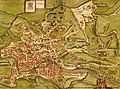 Historical map of ancient Rome of the 1st century CE published in Italy in 1570.jpg