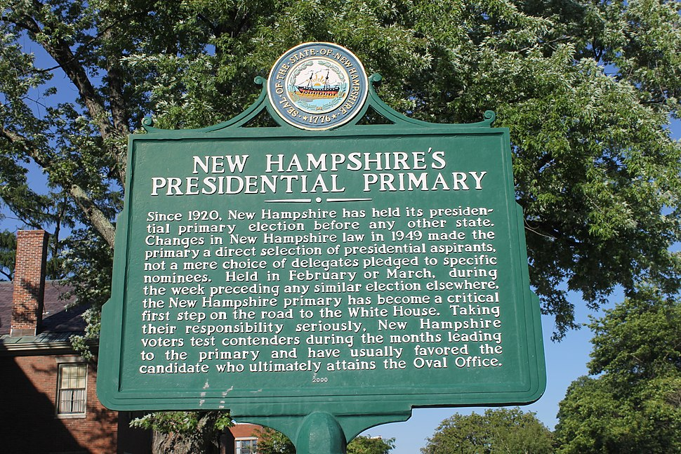 Historical plaque, NH presidential primary IMG 2681