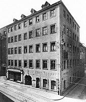 Clara Wiecks Geburtshaus Hohe Lilie 1920 (Quelle: Wikimedia)