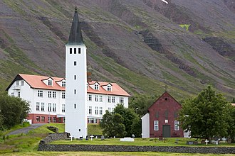 Religion in Iceland - The Cathedral of Hólar, and Hólar University College.