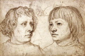 Ambrosius Holbein - Hans Holbein the Elder, Portrait of his sons Ambrosius and Hans