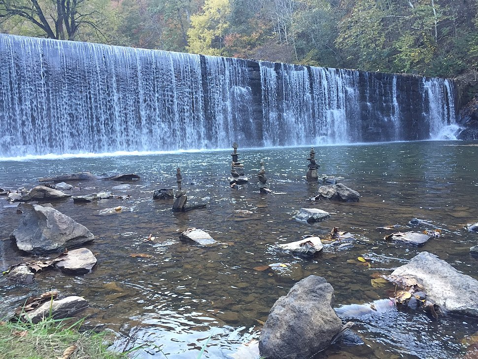 Hollins Mill Waterfall - Blackwater Creek Greenway