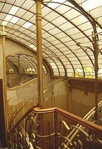 Escaleras del interior de la Casa Horta, uno de los ejemplos más refinados de la arquitectura modernista
