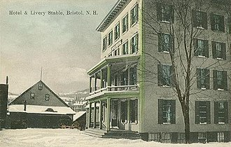 Bristol, New Hampshire - Image: Hotel & Livery Stable, Bristol, NH