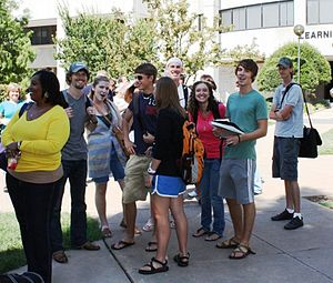 Oklahoma State University–Oklahoma City - OSU-OKC students gather for free food, giveaways and fun during the tri-annual pre-semester Howdy Week event.
