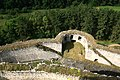 Hrad Rabí s hradním kostelem Nejsvětější Trojice, část stojící, část zřícenina a archeologické stopy (Rabí) (17).jpg