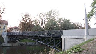 Hradecky Bridge bridge in Ljubljana, Slovenia