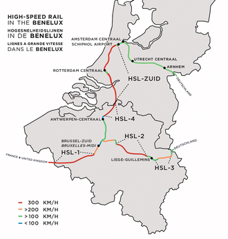 HSL-Zuid - Route of the HSL-Zuid