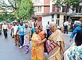 Human Chain, Mahul residents protests - Medha Patkar with the protesters.jpg