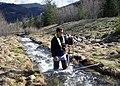 Hydrologist Measuring Streamflow (15303060773).jpg