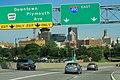 I-490 East at Inner Loop Sign - Rochester Skyline (42054139674).jpg