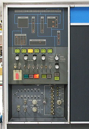 IBM 1401 - 1401 Console and, below, the Auxiliary Console.