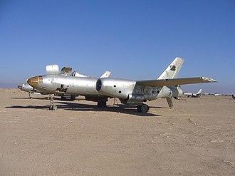 """Al-Taqaddum Air Base - A junked Il-28 """"Beagle"""" from Saddam Husseins' former regime at Al Taqaddum Airbase, Iraq"""
